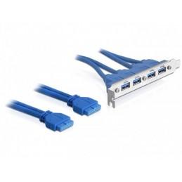 Delock 2 x USB 3.0 19-pin -...