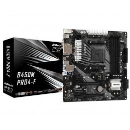 ASRock B450M Pro4-F - AMD -...