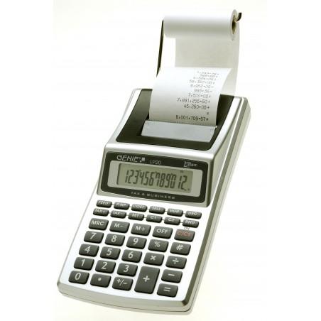 Genie LP 20 - Bureau - Calculatrice imprimante - 12 chiffres - 1 lignes - AC/Batterie - Noir - Argent