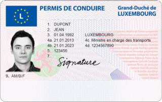 Permis de conduire luxembourg